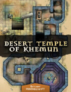 Desert Temple of Khemun - Printable & VTT Battlemap