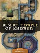 Desert Temple of Khemun - Printable & VTT Battlemap