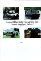 Leopard I Main Battle Tank and Variants
