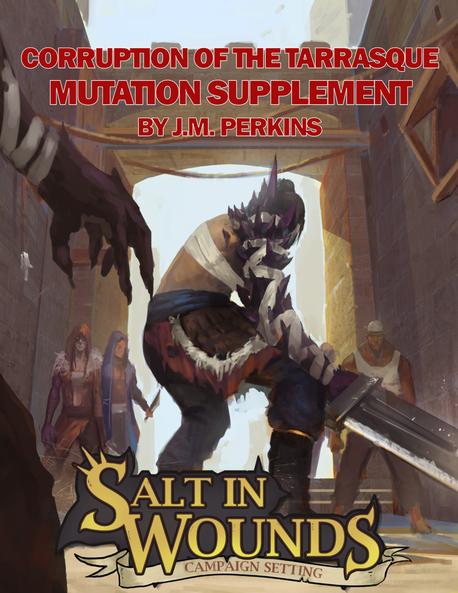 Cover of the Corruption of the Tarrasque Supplement