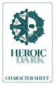 Heroic Dark Character Sheet