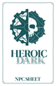 Heroic Dark NPC sheet