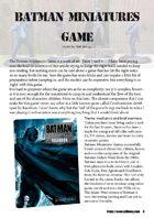 The Golden D6 #1 – Batman Miniatures Game Review