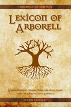 Lexicon of Arborell