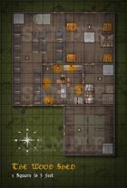 Stock Map - The Wood Shed - W/commercial License