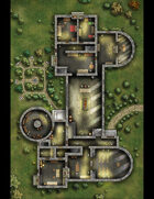 Sorn Manor map (large format with GRID)