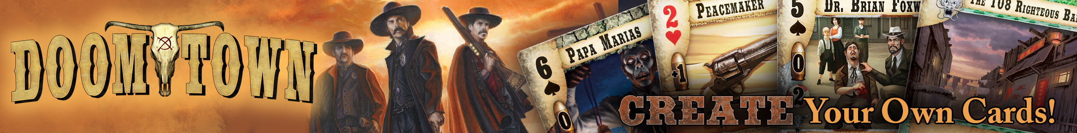 Doomtown: create your own cards @ DriveThruCards.com