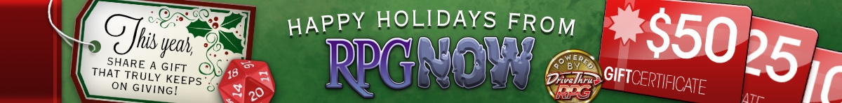 Gift certificates for the holidays from Twin Rose Software RPG Downloads