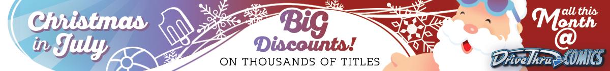 Christmas in July Sale @ DriveThruComics.com