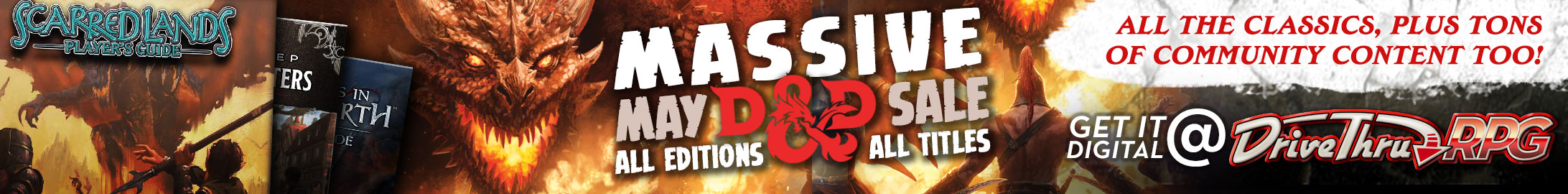 Massive May Dungeons & Dragons Sale @ DriveThruRPG.com