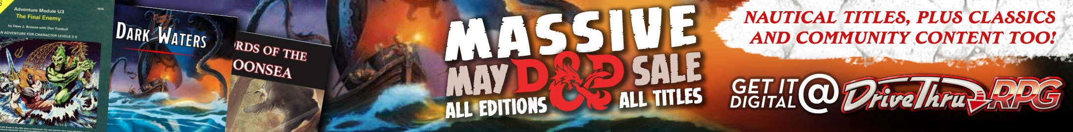 Massive May Dungeons & Dragons Sale @ Dungeon Masters Guild