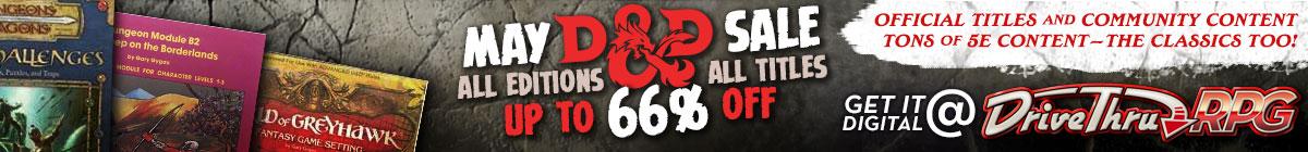 May D&D Sale @ DriveThruRPG.com