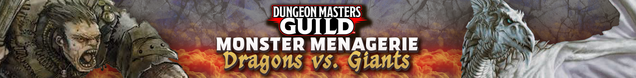 "Monster Menagerie ""Dragon vs Giant"" bundles @ Dungeon Masters Guild"