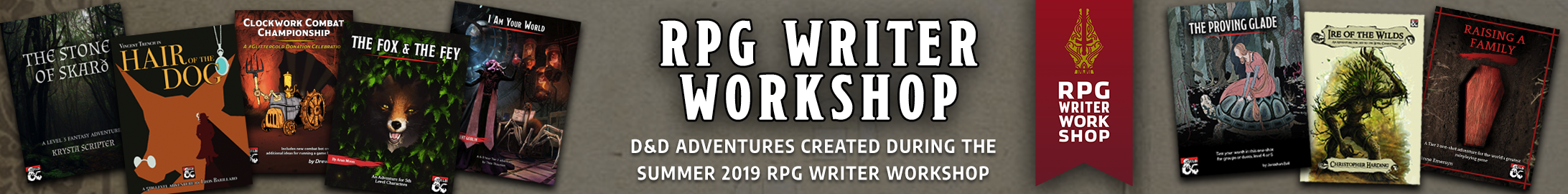 The RPG Writer Workshop is designed to help aspiring authors write, produce, and publish their first RPG adventures.<br />The Workshop is held twice a year and has an active community with more than 1,000 writers.