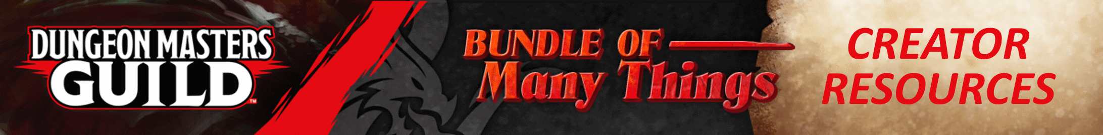 Bundle of Many Things: Creator Resources @ Dungeon Masters Guild