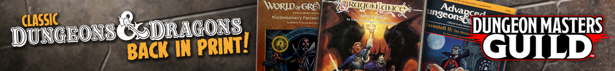 D&D Classics now in print @ Dungeon Masters Guild