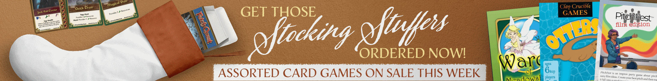 Stocking stuffers: assorted card games on sale @ DriveThruCards.com