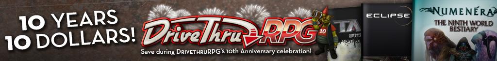 DTRPG 10th Anniversary Sale