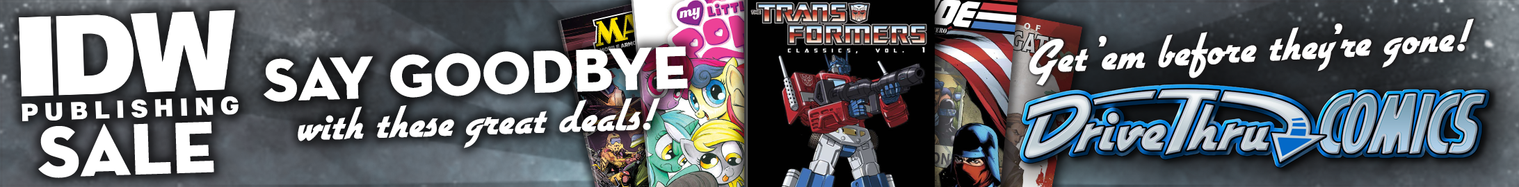 IDW Goodbye Sale