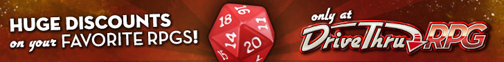 Huge Discounts on your Favorite RPGs at DriveThruRPG!