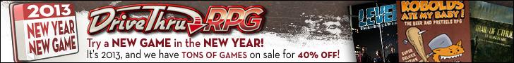 DriveThruRPG -- New Year, New Game