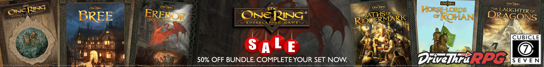Complete your collection: The One Ring Bundle - 50% off @ DriveThruRPG.com