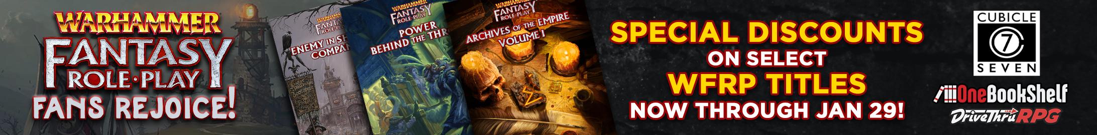Warhammer Fantasy Roleplay on sale @ DriveThruRPG.com