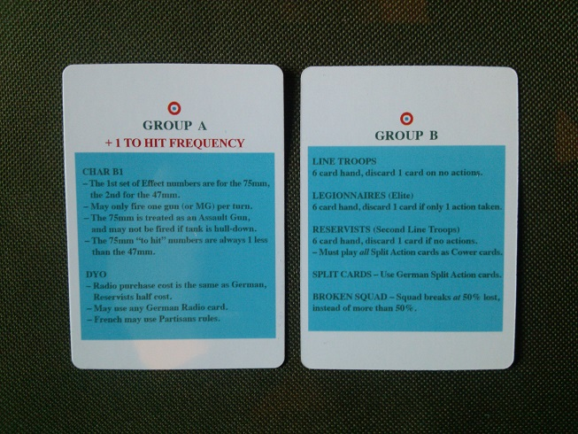 DW Group Cards