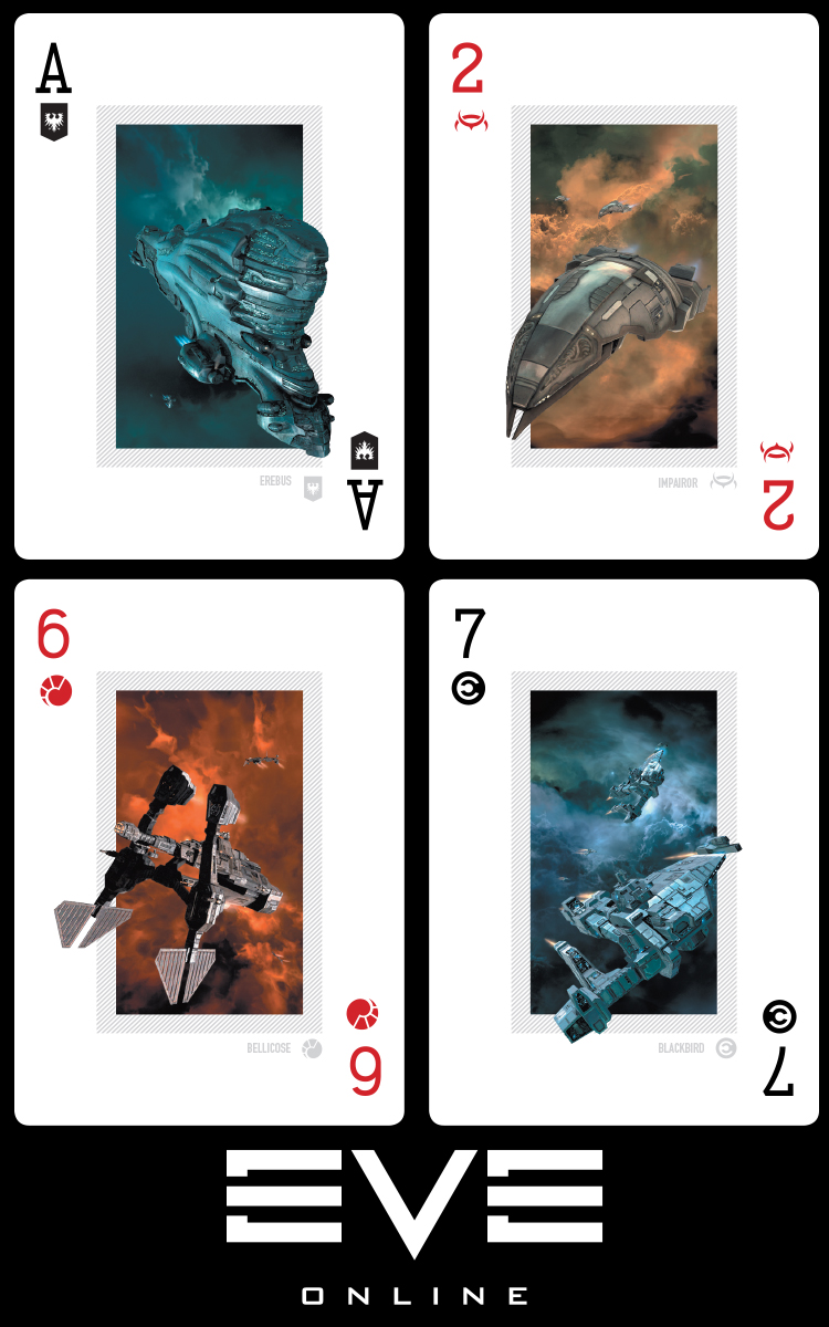 Eve Online Poker Deck Race Suit Symbols