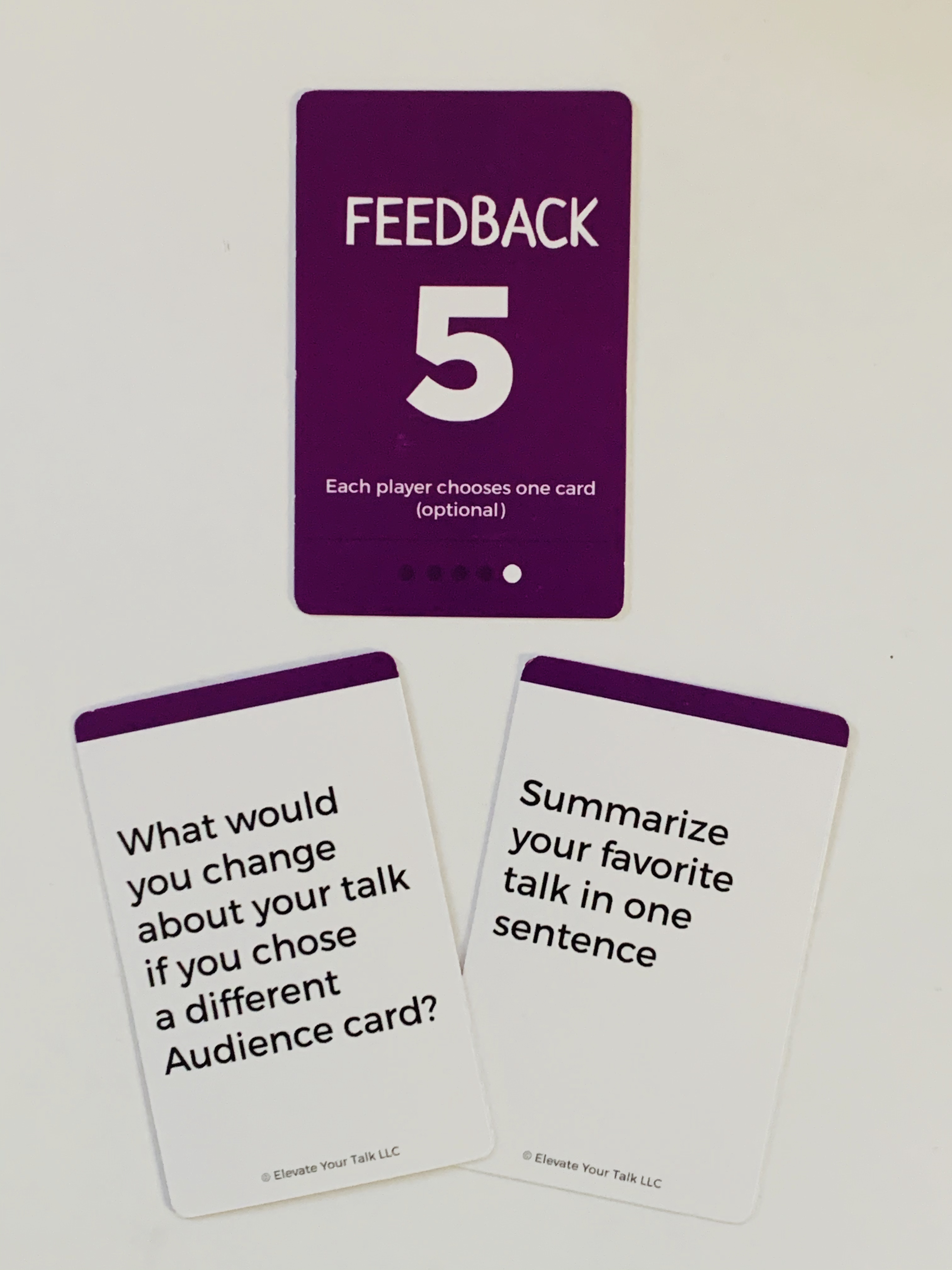 Optional Feedback Cards