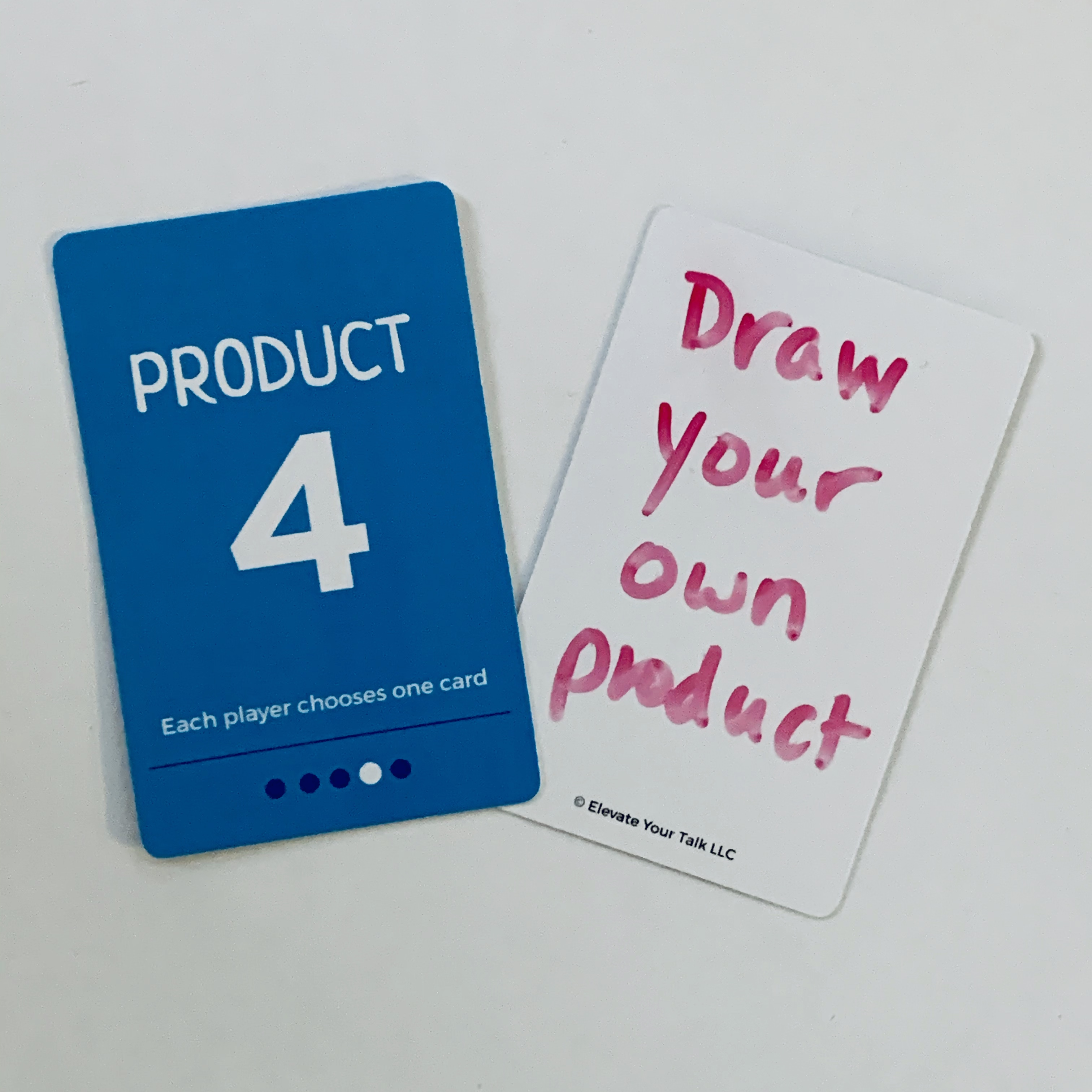 Blank cards are dry-erase marker friendly