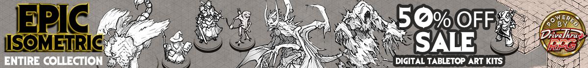 Epic Isometric Sale, 50% off at DriveThruRPG.com