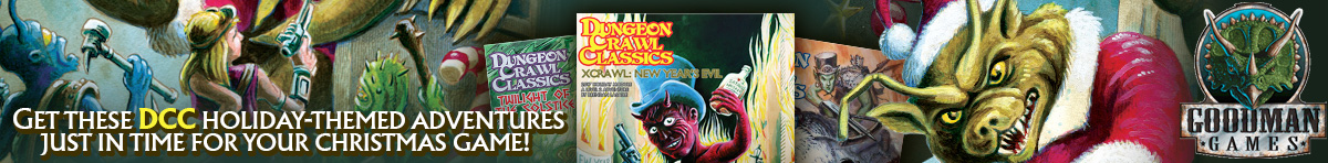 DCC holiday-themed adventures from Goodman Games at DriveThruRPG.com