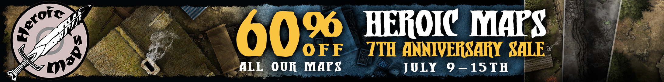 Heroic Maps 7th Anniversary sale @ DriveThruRPG.com