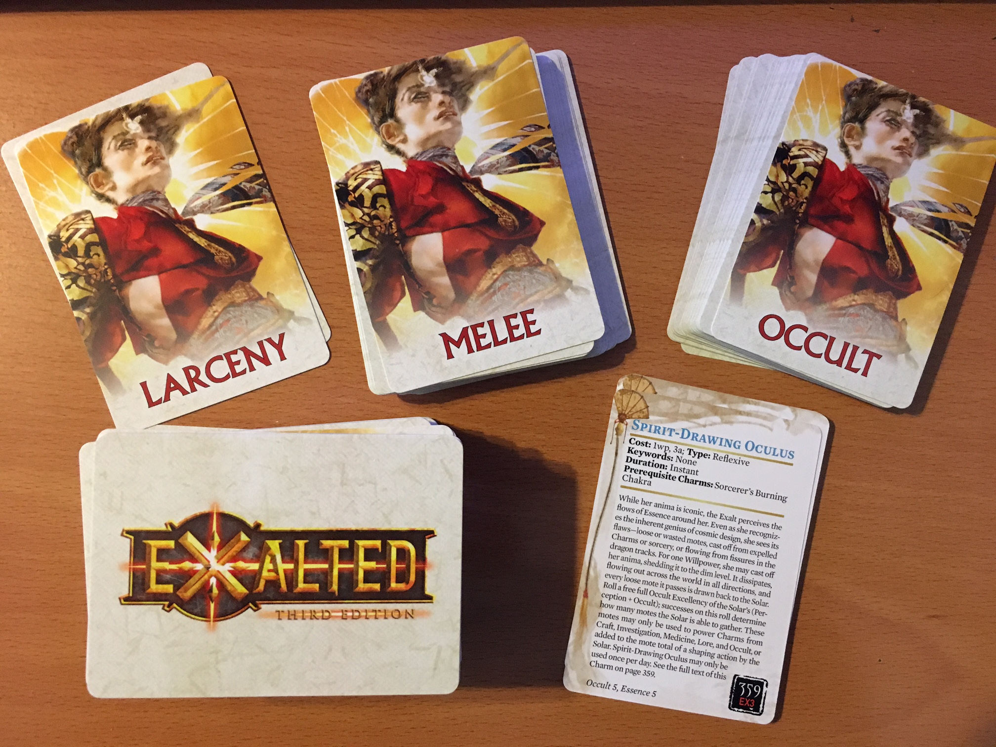 exalted 3rd edition charm cards set 1 onyx path