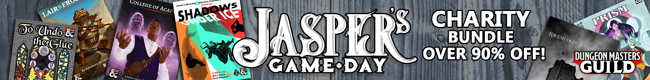 Jasper's Game Day bundle @ Dungeon Masters Guild