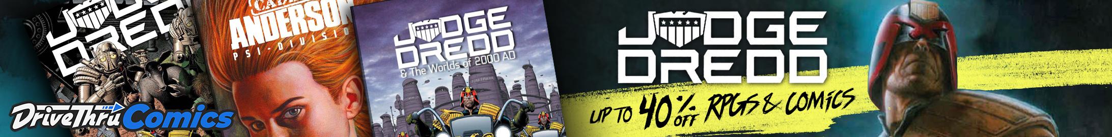 Judge Dredd Sale @ DriveThruRPG.com
