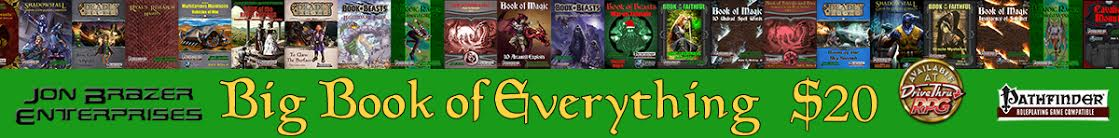 JBE's Big Book of Everything Bundle from DriveThruRPG.com