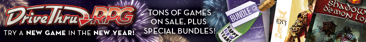 New Year, New Game sale @ DriveThruRPG.com