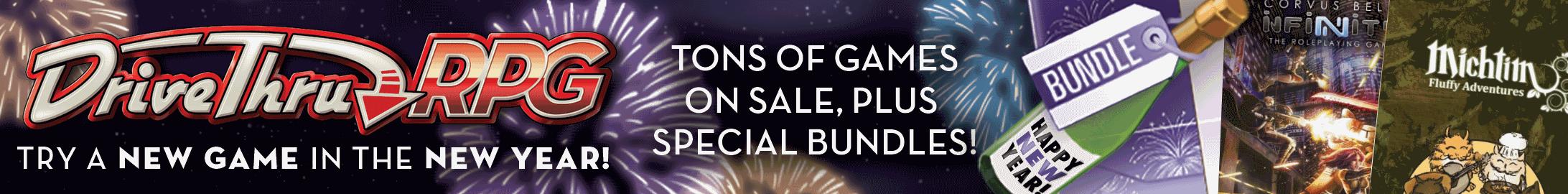 New Year, New Game sale @ DriveThruRPG.com