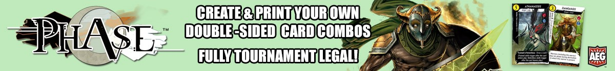 Phase: Create & print your own double-sided card combos, fully tournament legal DriveThruCards.com