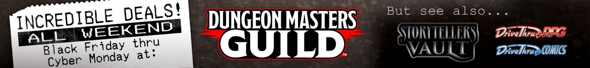 Thanksgiving Weekend sale @ Dungeon Masters Guild