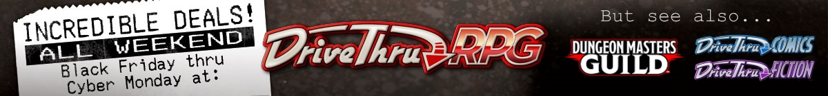 Thanksgiving Weekend sale @ DriveThruRPG.com
