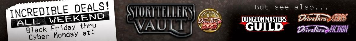 Thanksgiving Weekend sale @ Storytellers Vault