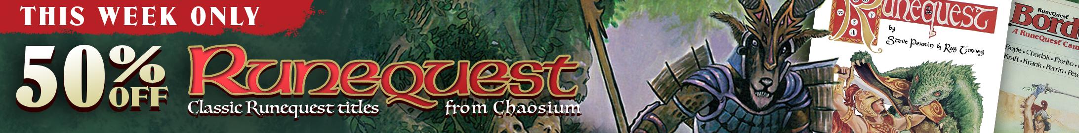This week only: 50% off all Classic Runequest titles @ DriveThruRPG.com