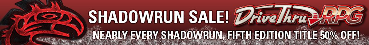 SR5 Complete Your Collection Sale @ RPGNow.com