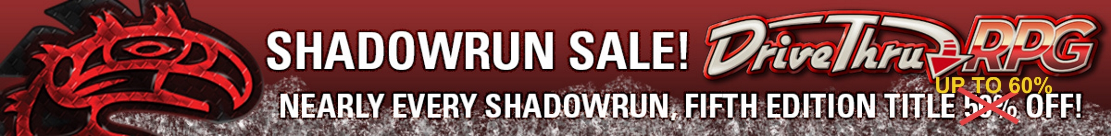 SR5 Complete Your Collection Sale @ DriveThruRPG.com