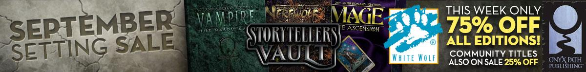 World of Darkness System Sale @ Storytellers Vault