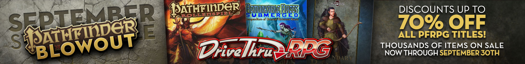 Pathfinder September Setting sale @ DriveThruRPG.com