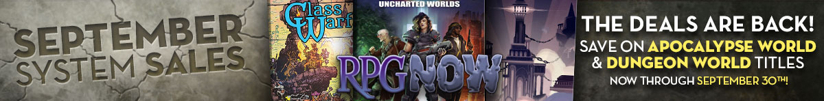 Apocalypse World & Dungeon World System System Sale @ DriveThruRPG